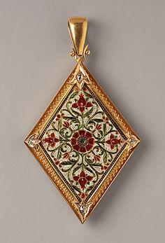 enameled gold pendant 1879