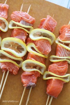 Grilled Salmon Kebabs – LOVE these!!