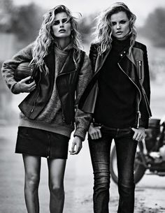 Magdalena Frackowiak and Edita Vilkeviciute. @missbeanproduction