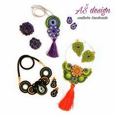 AŠ design Soutache Jewellery 2016 spring - soutache accsesories