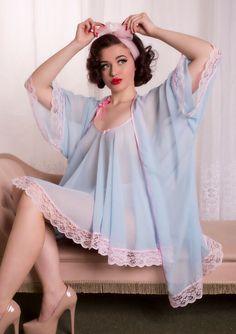 Matching Set: Custom Colour 'Joan' Babydoll & 'Jayne' Bed Jacket