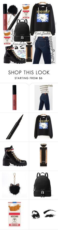 """""""Send Help 🌼"""" by karilooks ❤ liked on Polyvore featuring Lord & Berry, MANGO, Le Métier de Beauté, Gucci, Lalique, LC Lauren Conrad, MICHAEL Michael Kors and Moschino"""