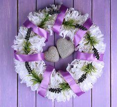 Dekorieren mit Blumen #Hochzeit #Lila #Flieder #Lavendel