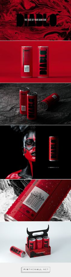 Diablo Alcoholic Energy Drink packaging design by Tough Slate Design (Ukraine) - http://www.packagingoftheworld.com/2016/09/diablo-alcoholic-energy-drink.html