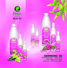 Dew Herbals Skincare Acne Go Range! Dew Oil Control Face wash Dew Wipe ( Rose Water ) Dew Soothing jel