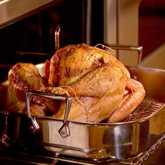 Get Roast Turkey with Truffle Butter Recipe from Food Network Fresh Turkey, Truffle Butter, Turkey Dishes, Roasted Turkey, Roasting Pan, Butter Recipe, Recipe Of The Day, Truffles, Food Network Recipes