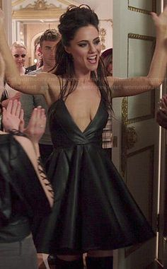 Princess Eleanor's leather dress on The Royals.  Outfit Details: http://wornontv.net/47704/ #TheRoyals