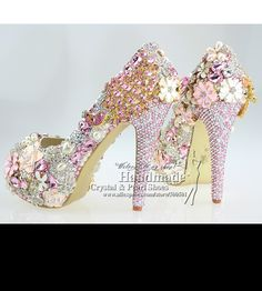 Lace up peep toe design your own wedding shoes with pink brooches-in Women's Pumps from Shoes on Aliexpress.com | Alibaba Group