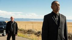 """Mike Ehrmantraut (Jonathan Banks) and Gustavo """"Gus"""" Fring (Giancarlo Esposito) in Episode 3 Photo by Michele K. Criminal Shows, Gustavo Fring, Braking Bad, Gus Fring, Jonathan Banks, Saul Goodman, Call Saul, Netflix Series, Tv Series"""