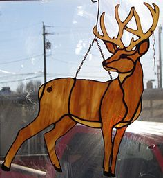 Stained glass deer buck