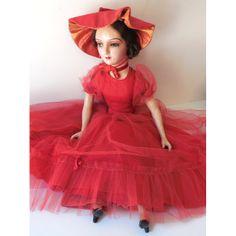 Gorgeous Vintage Boudoir Doll w/ Eyelashes 26 Inch