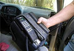 First real car telephones...This was called a Transportable phone w/ point five watts of power. It was a phone with a battery pack. (three watts in your car)