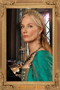 "Joely Richardson as Catherine Parr in ""The Tudors"" I just like to see her in the lake blue costume. New version, more colorful, new BG, look better Queen Catherine Parr Lady Jane Grey, Jane Gray, Catherine Parr, Catherine Of Aragon, Anne Of Cleves, Anne Boleyn, Showtime Tv, The Tudors Tv Show, Joely Richardson"