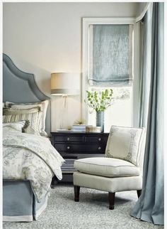 South Shore Decorating Blog: Weekend Roomspiration (6.1.14) Like the muted grey and green tones...