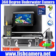 360 Rotation PTZ camera 50m Underwater Fishing Video Camera Waterproof System With 7 Inch LCD moniot box