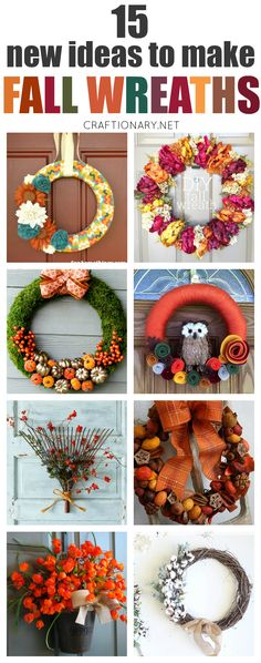 Best DIY Fall wreaths for home decor have been carefully selected using new, modern and unique ideas to help you make wreaths that are impressive & stylish. Easy Fall Wreaths, Diy Fall Wreath, Thanksgiving Wreaths, How To Make Wreaths, Thanksgiving Decorations, Christmas Wreaths, Wreath Crafts, Fall Decorations, Wreath Ideas