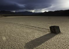 "Racetrack Playa in Death Valley National Park, California: The ""sailing stones"" of Racetrack Playa move on their own accord – a longstanding mystery recently attributed to melting ice sheets. Racetrack Playa is home to a delightful and bizarre scientific phenomenon, one well worth seeing in person."