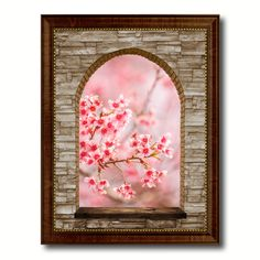 cherry blossom thailand picture 3d arch window canvas print home dcor wall frames