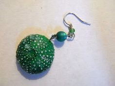 Sea urchins - earrings   Made with polymer clay (fimo)