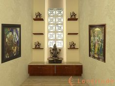 Modern Mandir Room Design For Home Aug 8 2016 puja room designs concepts and ideas. Temple and mandir at home. Living Room Designs, Living Room Decor, Mandir Design, Pooja Room Door Design, Home Temple, Temple Room, Beige Living Rooms, Puja Room, Prayer Room