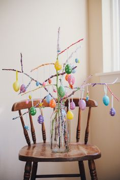 Hey hey hey - I made a stick tree! This is noteworthy because some of you might recall that I used to make little stick trees all the time w. Easter Tree, Easter Holidays, Diy, Home Decor, Decoration Home, Bricolage, Room Decor, Interior Design, Handyman Projects