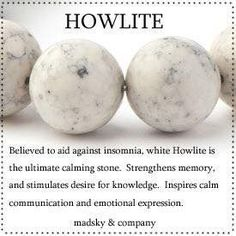Howlite crystal meaning and healing energy