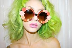 BONNIE embellished sunglasses by Her Tiny Teeth on Etsy.
