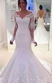 Resultado de imagem para vestido de noiva sereia com manga