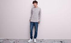Pull&Bear - man - jeans - slim fit jeans - blue - 05682506-V2015
