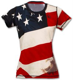 Show Off Your Patriotism With Fun 4th Of July Gear - Women's Running #4thofJulyrunninggear #teamsparkle