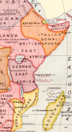German East Africa Map