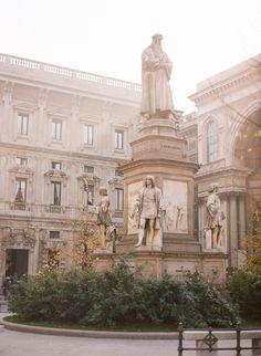 Leonardo Statue Milan | photography by http://aliharperphotography.com/blog/