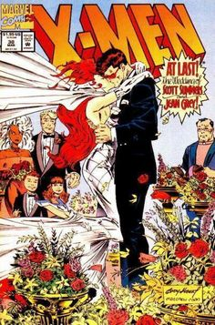 In this 1994 issue of X-Men, superheroes and X-Men teammates Scott Summers (a.k.a Cyclops) and Jean Grey (a.k.a. Phoenix) finally walk down the aisle, despite their very complicated past.