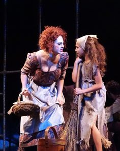 2015 Les Miserables, Mme Thenardier & young Cosette. Photo by Peggy Keelan.