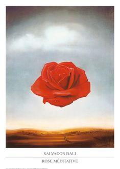 Rose Meditative, c.1958 by Salvador Dalí. Art print from Art.com.