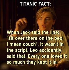 One of my favorite things in the behind the scenes action of Titanic! One of my favorite things in the behind the scenes action of Titanic! Titanic Leonardo Dicaprio, Young Leonardo Dicaprio, Titanic Movie Facts, Titanic Quotes, Titanic Movie Scenes, Titanic History, Rms Titanic, Ancient History, Titanic Behind The Scenes