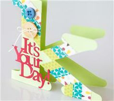 Use the card recipient's monogram to make a fun, personalized card that will brighten their day!