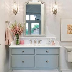 Gray Washstand with Cabriole Legs