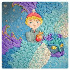 "Plasticine illustration of the book by Astrid Lindgren ""Mio, my Mio"" plastiline #plasticine #illustration #astridlindgren #miominmio #miomyson #miomymio #shelestart"