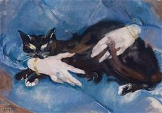 View Die schwarze Katze (Circa By Max Oppenheimer; oil on canvas; Access more artwork lots and estimated & realized auction prices on MutualArt. Italian Painters, Vienna, Oil On Canvas, Modern Art, Backdrops, Drawings, Artwork, Expressionism, German