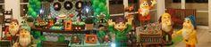 Decoração de festa infantil móveis rústicos tema 7 anões #7anões #decoraçãofestainfantil bem bolado daniela genari