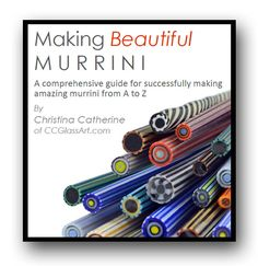 On my wish list!  MAKING BEAUTIFUL MURRINI Lampwork Tutorial - 100 Color Photos - 50 Pages - A comprehensive guide for successfully making amazing murrini. $25.00, via Etsy.