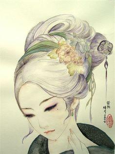头像 绘画 古装 插画手绘 壁纸 世界上,真的会有那么一个人默默关注着你…