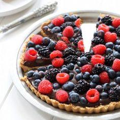 Chocolate-Berry-Tart