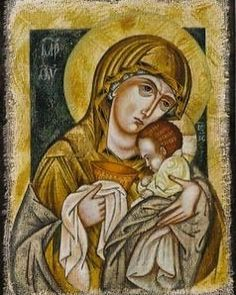 Blessed Virgin Mary, Orthodox Icons, Blessed Mother, Mother Mary, Bible Art, Catholic, Mona Lisa, Prayers, Spirituality