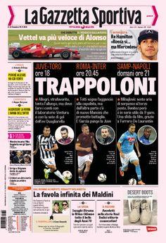 Rassegna stampa, le prime pagine dei quotidiani sportivi di oggi - http://www.maidirecalcio.com/2014/11/30/rassegna-stampa-le-prime-pagine-dei-quotidiani-sportivi-di-oggi.html