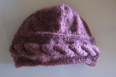 Knitted cabled beanie