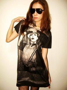 3e8e015d3770da Marilyn Manson Metal Rock Goth Music Dress T-shirt L