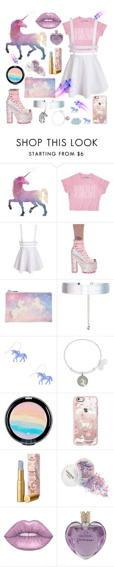 """""""Unicorn Love"""" by nury-sg ❤ liked on Polyvore featuring Y.R.U., Forever 21, Accessorize, claire's, Alex and Ani, Casetify, Too Faced Cosmetics, Lime Crime and Vera Wang"""