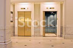 twin elevators royalty-free stock photo